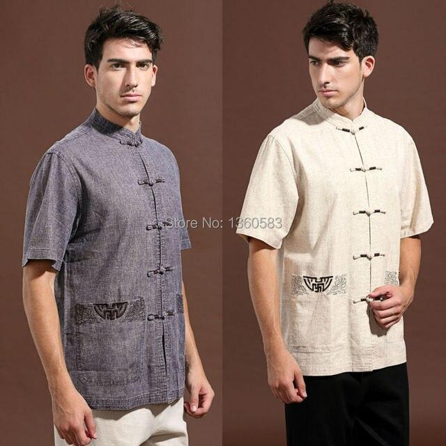 Высокое качество 2016 новый традиционный китайский одежда мужская тан-костюм топ хлопок белье с коротким рукавом tangzhuang Большой размер м-xxxxl