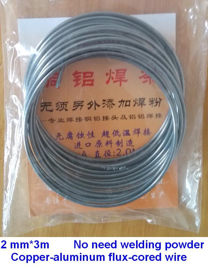 2,00mm * 3 M cobre Flujo de aluminio Alambre de soldadura de cobre Alambre de baja temperatura cobre-aluminio varillas de soldadura para CA y refrigeración