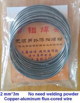 2.00mm*3m Copper aluminum flux cored welding wire low temperature copper-aluminum welding rods for AC & Refrigeration