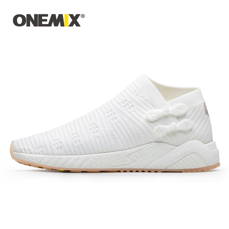 ONEMIX Sneakers For Women Light Cool Breathable Running Shoes Knitted Vamp Women Shoes Durable Rubber Outsole Socks-like Sneaker