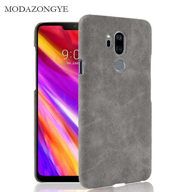 US $2 44 35% OFF|For LG G7 Case LG G7 ThinQ Case Luxury PU Leather Hard  Plastic Back Cover Phone Case For LG G7 ThinQ G 7 G710EM G7ThinQ 2018-in