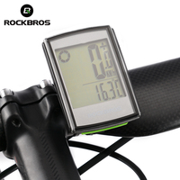ROCKBROS Bicycle Computer Wireless Stopwatch Waterproof Backlight LCD Display Cycling Bike Computer Speedometer Odometer Cycle