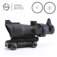 Hunting Tactical Riflescopes ACOG 1x32 Red Green Reticle Illuminated ACOG Red Dot Scope Sight With 20mm Rail for Airsoft gun