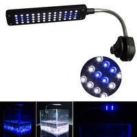 DC 12V High Lumen Clip On 48 LED Aquarium Lights Lamp With Flexible Arm For Coral