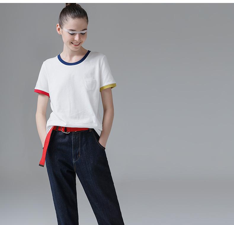 HTB1CcI3PpXXXXXJXFXXq6xXFXXXG - T Shirt Women Short Sleeve O-Neck Cotton