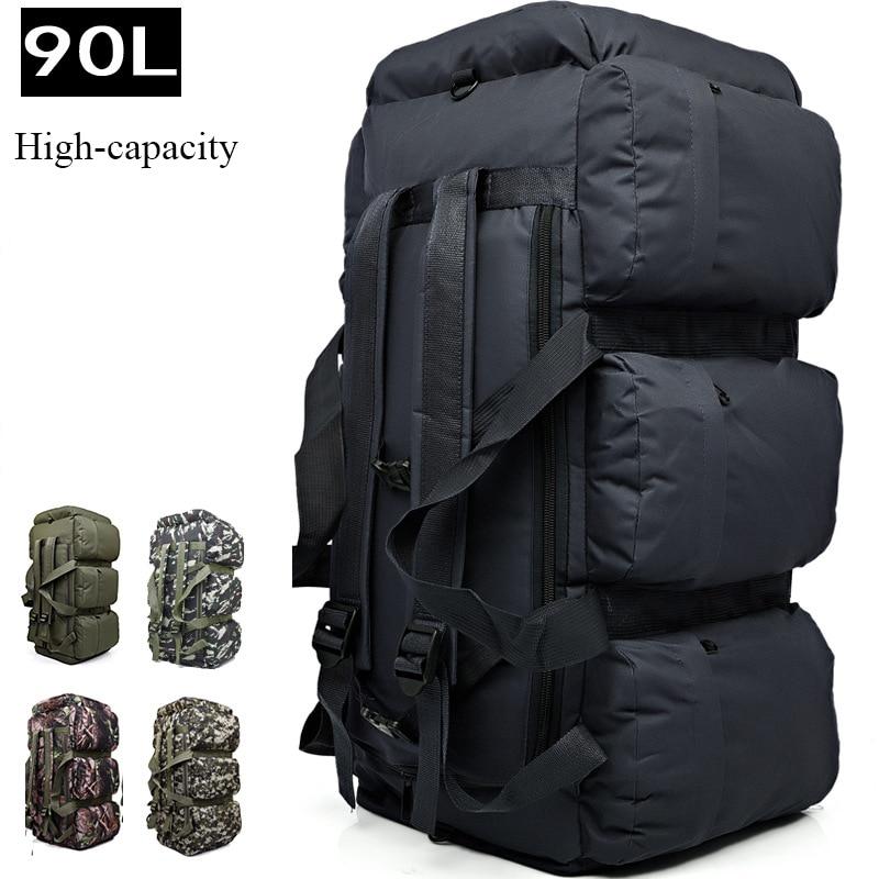 2018 brand Large capacity 90L Camping mountaineering bag backpack Waterproof outdoor Handbag travel Climbing Multifunctional bag