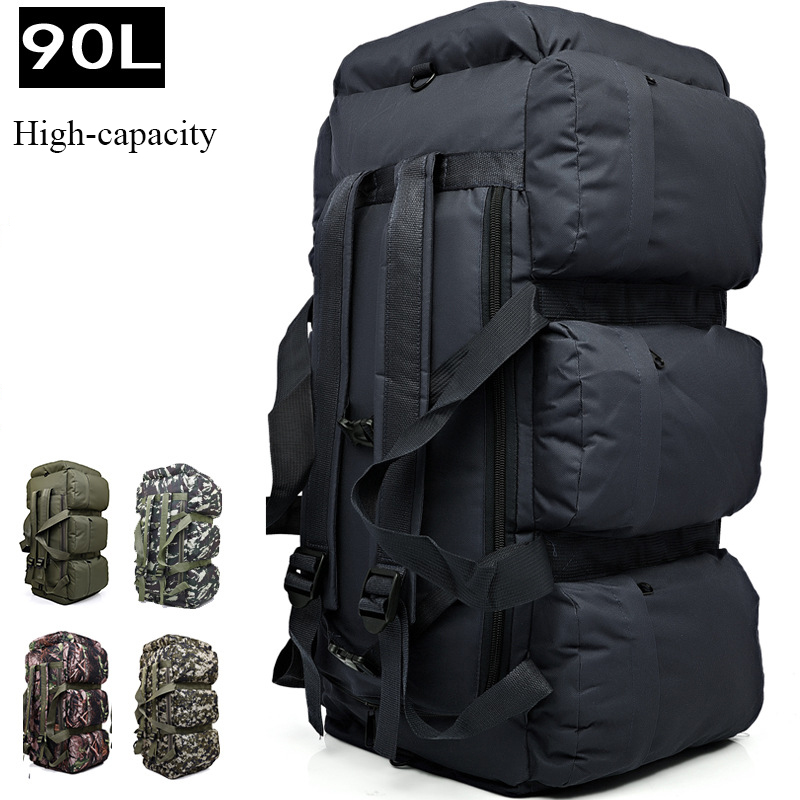 2018 brand Large capacity 90L mountaineering bag backpack Waterproof outdoor sports backpack travel Climbing Multifunctional bag large capacity outdoor sports backpack travel on foot casual double shoulder mountaineering bag a5104