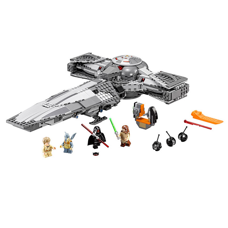 New 698pcs font b LEPIN b font 05008 Star Wars Sith Infiltrator Figure Marvel Minifigures Building