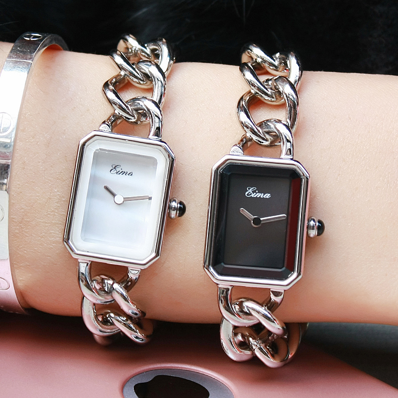 EIMA Top Luxury Women Silver Stainless Steel Bracelet Quartz Wristwatches Fashion Popular Lady Dress Watches Feminino Relojes