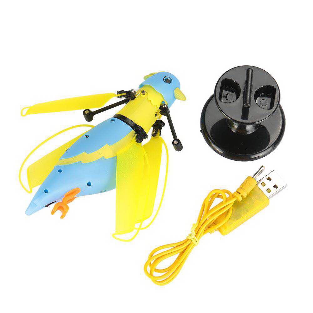 Mini Flying Induction Bird Hand Sensing Tracks Controling Helicopter Aircraft Toys with Light Music For Kids Fun Gift