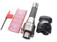 R8 m12 mandril de trituração + trs8r 63-22-4t face end mill + 10 pces 8r rdmx1604motn carboneto inserção cnc fresagem torno ferramenta