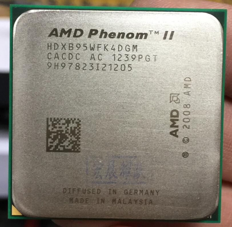 AMD Phenom II X4 B95 - HDXB95WFK4DGM  AMD B95 PC CPU  Quad-Core AM3 938 CPU 100% Working Properly Desktop Processor