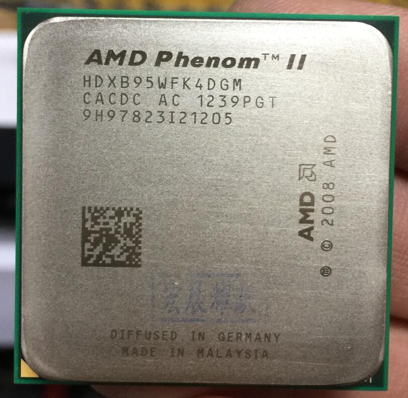 AMD Phenom II X4 B95-HDXB95WFK4DGM AMD B95 PC CPU Quad-Core AM3 938 CPU 100% fonctionne correctement Processeur de bureau