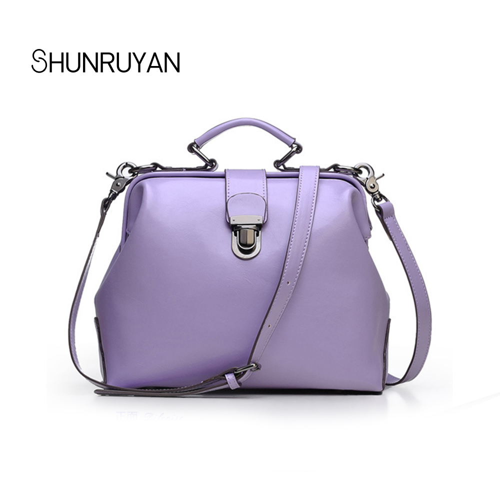 SHUNRUYAN New Fashion Women Messenger Bags Genuine leather Casual Shoulder Crossbody Bags Handbags Clutches Ladies Party Bag 2017 new female genuine leather handbags first layer of cowhide fashion simple women shoulder messenger bags bucket bags