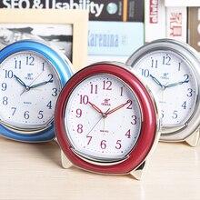 ABS Plastic Night Light Alarm Clock Snooze Mute Stopwatch Movement Luminous Pointer Silent Table Clocks Horloge