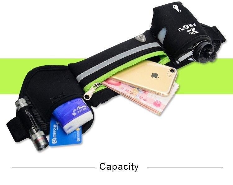 Outdoor Women&Men Hydration Belt For Trail Running Hip Waist Pack Gym Fitness Jogging Waist Bag Water Bottle Sport Accessories 14