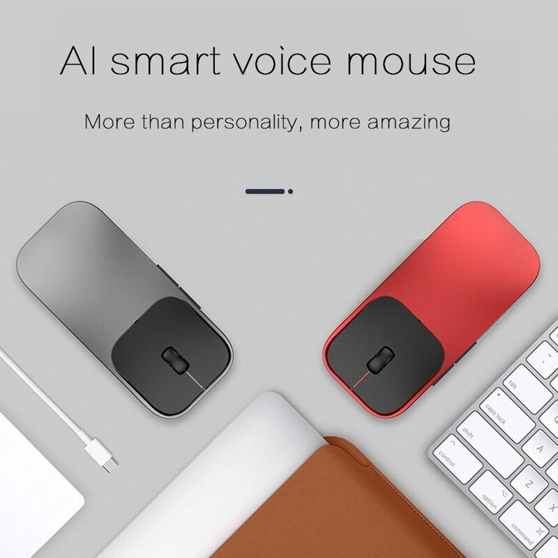 Souris intelligente sans fil AI prend en charge la frappe vocale recherche 28 langues traduction AI souris intelligente sans fil légère 2.4 Ghz 1600 DPI