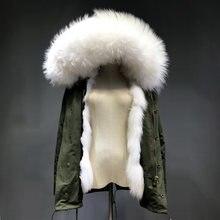Maylofuer Réel Renard Blanc De Fourrure Doublure Intérieure Amovible  Manteau Femmes Manteaux De Fourrure Blanc Naturel Raton Lav. bfe8b38c4e4