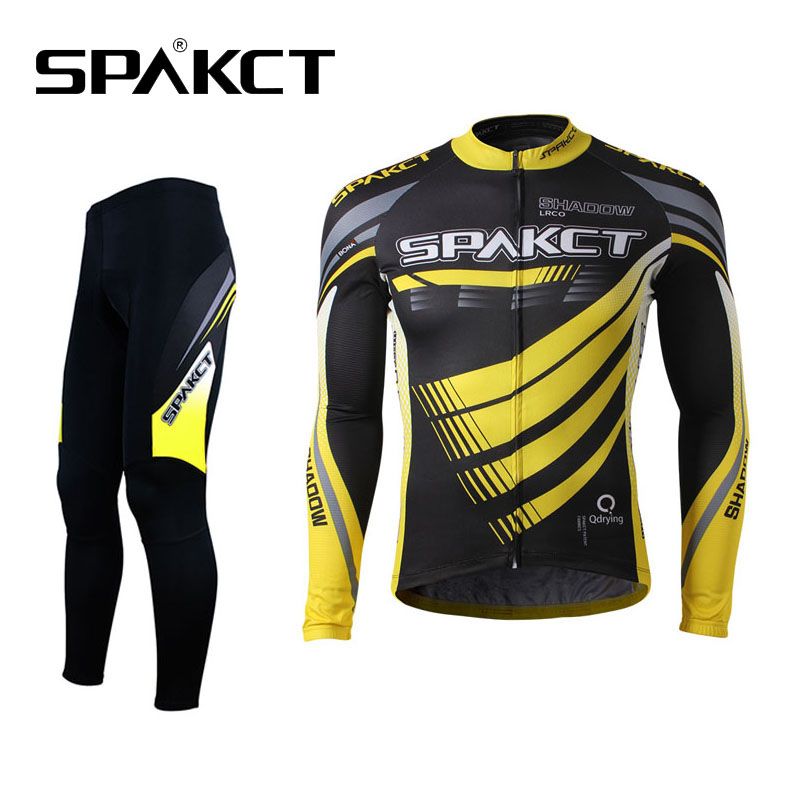 SPAKCT font b Cycling b font Suits Outdoor Sports Men s Long Sleeve Pants Sets Breathable