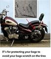 Acessórios da motocicleta UNIVERSAL suporte de suporte de sela sacos de protetor para YAMAHA VIRAGO XV125 250 400 535