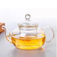 High quality Heat Resistant Glass Flower Tea Pot Practical Bottle Flower TeaCup Glass Teapot with Infuser Tea Leaf Herbal Coffee|Teapots|Home & Garden -