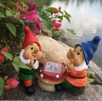 Free shipping,Chess Dwarf Decoration Resin Craft Sculpture Shrimp Flower Creative Landscape Villa Garden Flower Gardening