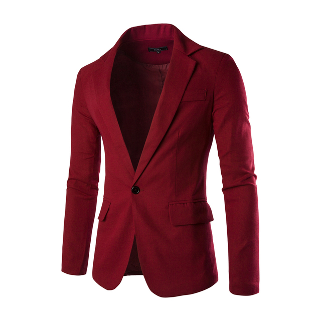 2016 Hot Selling New Brand Clothing Spring  One Button Men Blazer Slim Fit Costume Homme Suit Jacket Masculine Blazer 8 Color