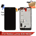 Para nokia lumia 630 n630 lcd display + touch screen digitizer + montaje del marco de 4g/3g