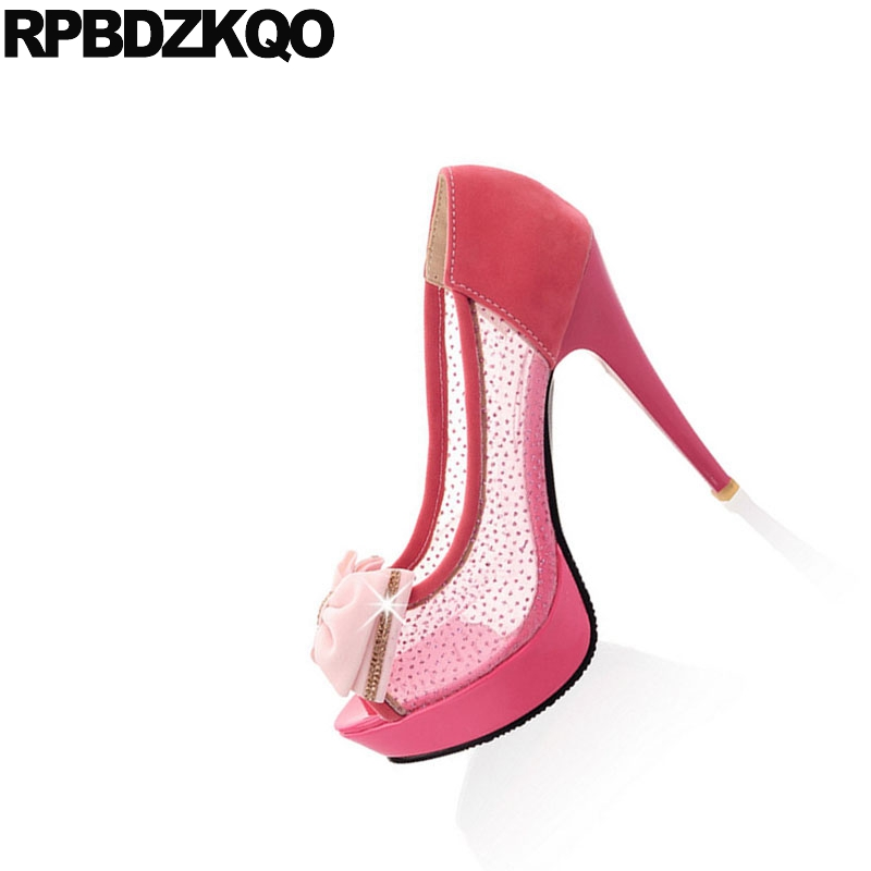 Cher rouge 10 Personnalisée Talons Rond Noir forme Taille Chaussures Cristal Hauts 42 Rouge Peep noir Diamant Crossdresser Plate Pompes 11 Maille Pas Beige Bout Grande 43 4v8AqAn
