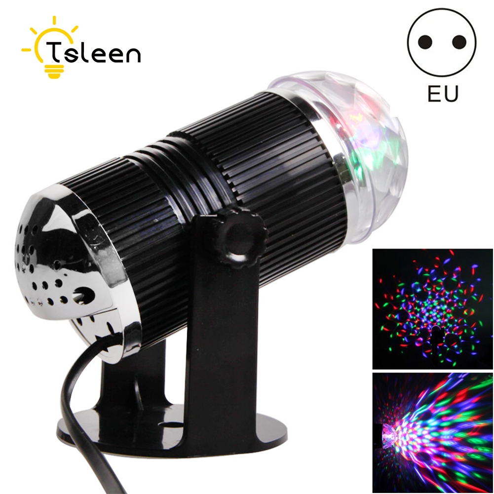 3W DJ Light RGB Color Changing Sound Actived Crystal Magic Mini Disco Ball Led Stage Lights for KTV Xmas Wedding Party Light 3w rgb led projector dj light disco ball led par crystal magic ball bar party xmas effect stage lights free shipping