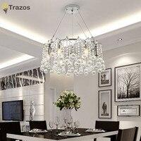 Trazos Modern Silver Transparent /cognic Crystal Chandelier lustres de cristal indoor Lights Crystal Pendants Living Room Lamp