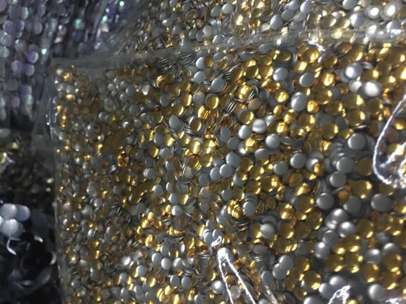 Nowy 3mm złoty okrągły Flatback żelazko na poprawki nailheads panel naciskając szpilki Punk Rock DIY kolce 500 sztuk/partia ubrania /buty/szalik