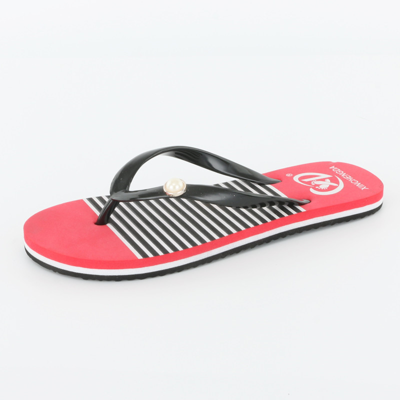 цены на 2018 Women Summer Striped Pattern Sandals Slippers Leisure Soft And Comfortable Non-slip Flip Flops Beach Slippers zapatos mujer