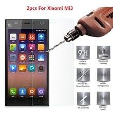 2pcs Xaomi Xiomi Mi 3 Mi3 Protective Glass For Xiaomi