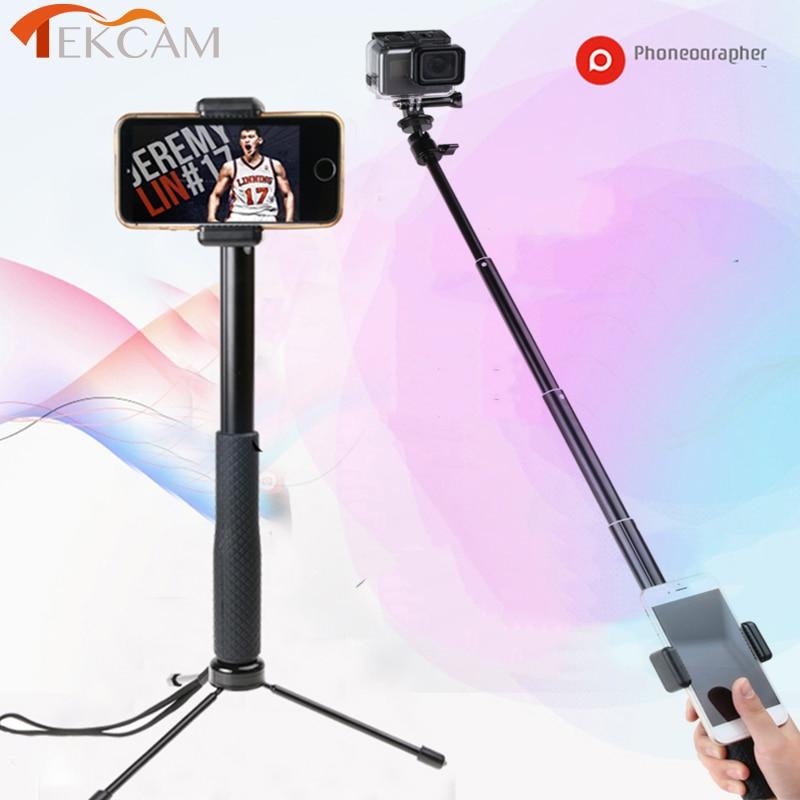 Tekcam 93 cm trípode Selfie Stick para Gopro hero 6/5/4 Monopod para Sony/Xiaomi yi/yi 4 K/Yi Lite/SJ6 SJ7 SJ8 SJ PRO Mijia Mini 4 K