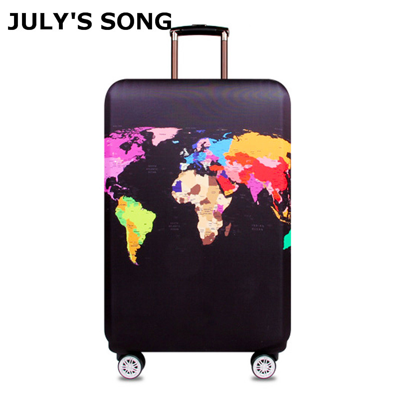 JULY'S SONG Travel Protective Cover Suitcase Elastic Dust Cover Trolley Luggage Case for 18~32 inch Suitcase Travel Accessories travel accessories fashion striped suitcase protection cover 18 32 inch trolley dust cover suitcase protective cover