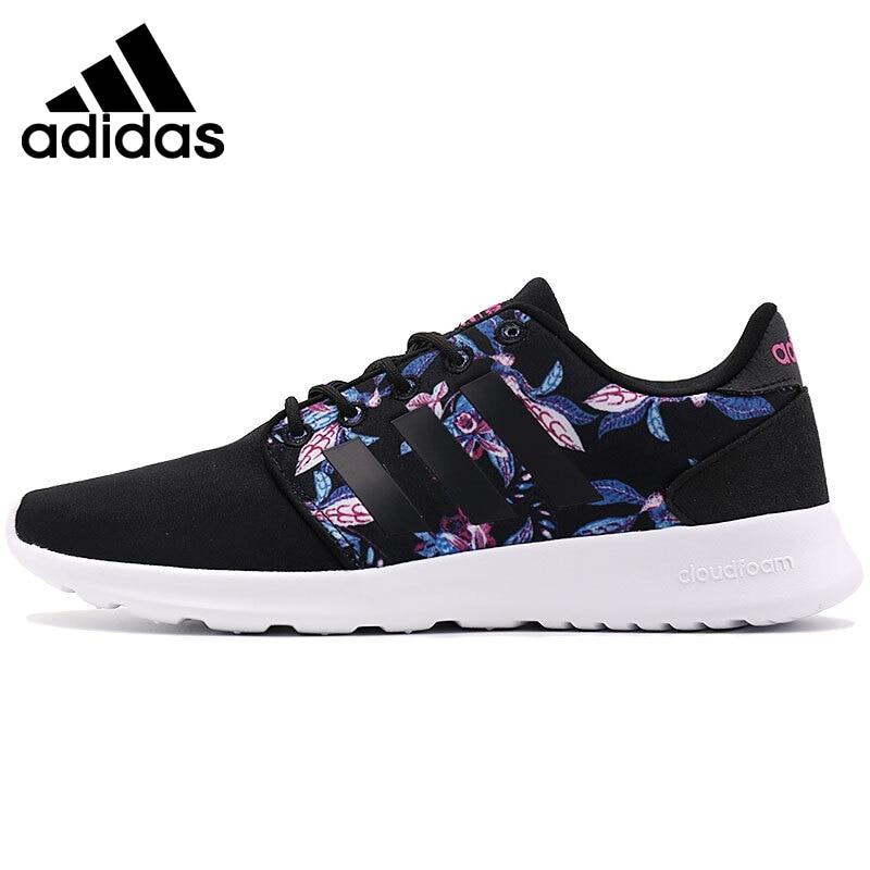 Adidas original neo rótulo cloudfoam qt racer com tênis de skate feminino