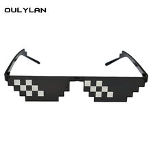 Oulylan Deal With It Glasses 8 bits Mosaic Pixel Sunglasses Men Cosplay Party Eyewear thug life Popular Around the World(China)