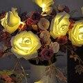 Flor de Rose de La Cadena de Luces de Navidad Iluminación 20 LED de Hadas de la Navidad Del Banquete de Boda Decoración