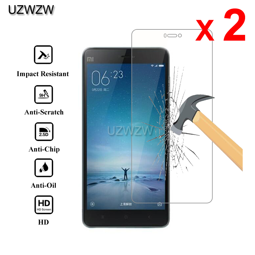 2pcs For Xiaomi Mi 4i Mi 4C Premium 2.5D 0.26mm Tempered Glass Screen Protector For Xiaomi Mi4i Mi4c Mi 4C Protective Glass