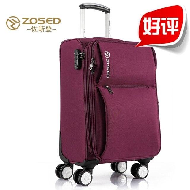 Zosed Trolley Luggage Bag Travel Universal Wheels
