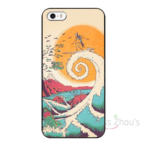 For iphone 4/4s 5/5s 5c SE 6/6s 7 plus ipod touch 4/5/6 back skins mobile cellphone cases cover Surf Before Christmas