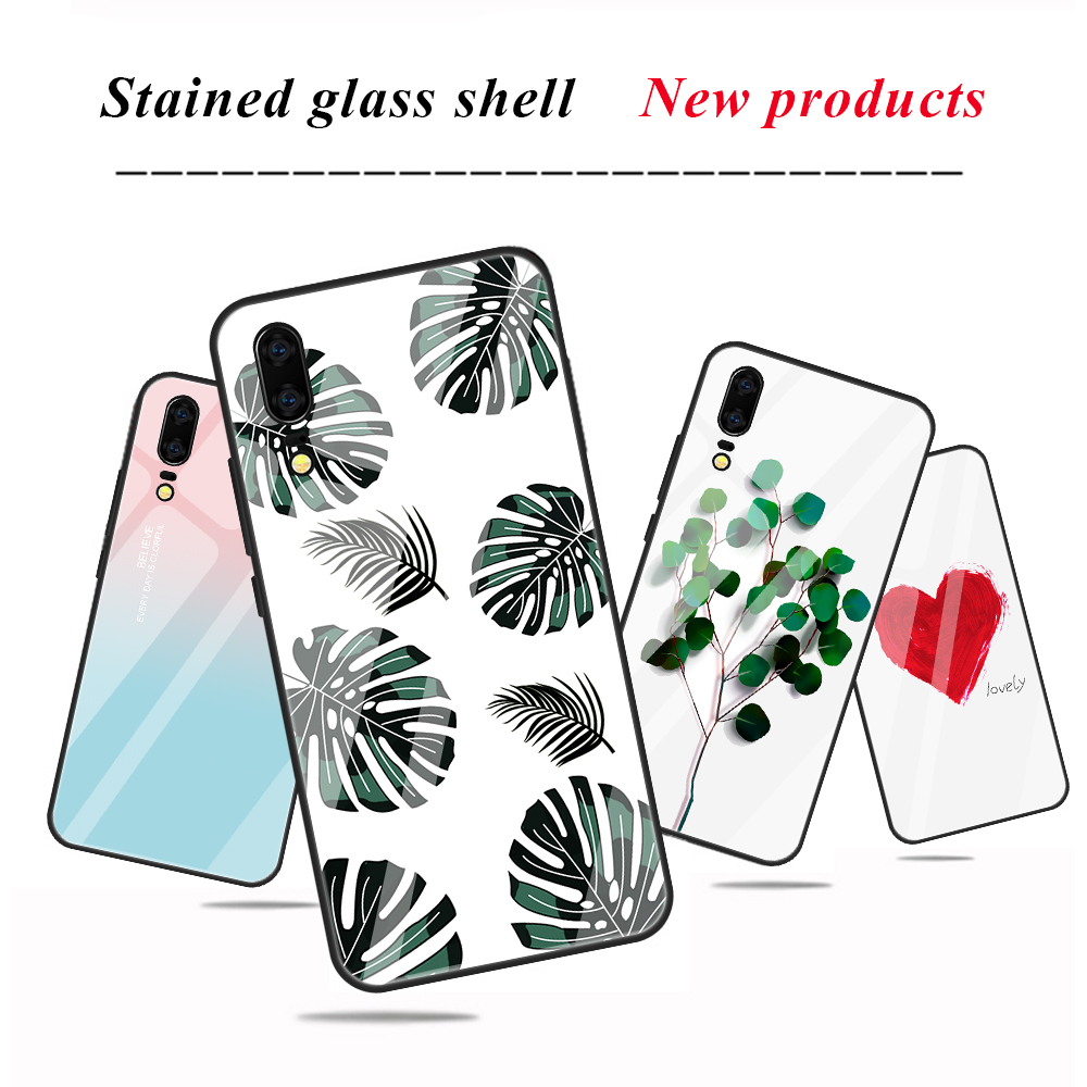 ZRICKIE For iPhone X Case Fashion Patterned Tempered Glass TPU Frame Cover for iPhone X XR XS Max Stained Glass Shell Fundas in Fitted Cases from Cellphones Telecommunications