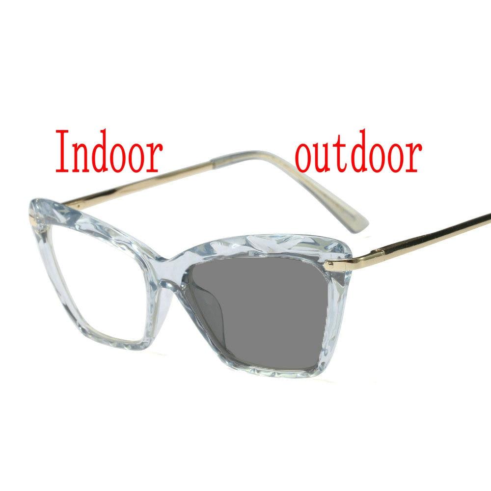 5fb8d9269367 Women Cat Photochromic Finished Myopia Glasses Photosensitive Chameleon  Anti glare Change Color Lens Prescription Glasses FML-in Men's Eyewear  Frames from ...