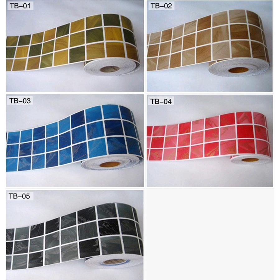 Classical Mosaic Stickers Vinyl Waterproof Waistline Self Adhesive Wallpaper For Kitchen