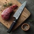 XINZUO 8,5 pulgadas Pro Chef cuchillos japonés Damasco acero alto carbono Acero inoxidable vegetal Santoku cuchillo de cocina marca