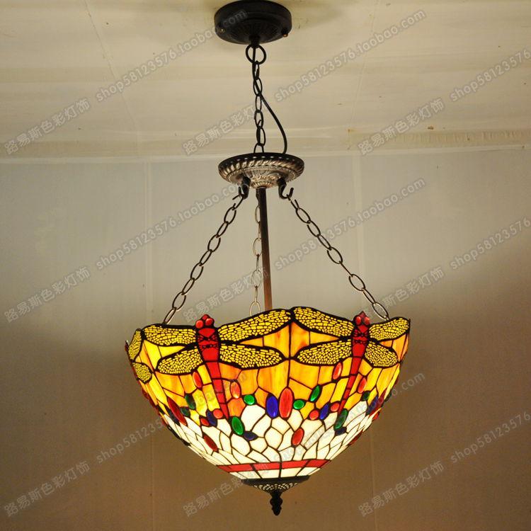 40 Cm Anti Europäischen Stil Libelle Anhänger Tiffany Glas Lampen Schlafzimmer Englisch Bar Cafe Nachtlichter Beleuchtung In