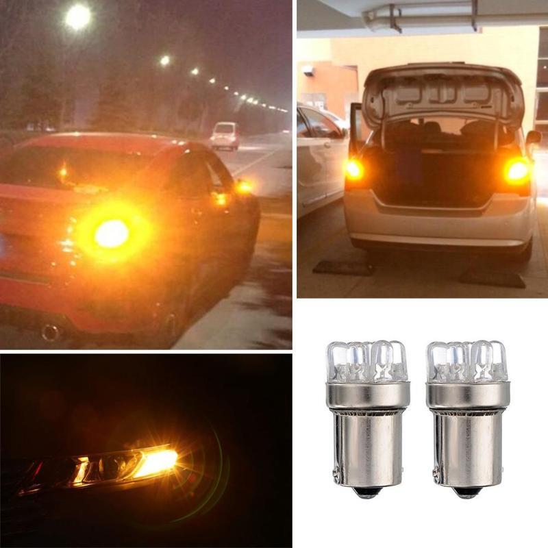 2 шт. DC 12 В BA15S 1156 9 светодио дный автомобилей Хвост тормозной лампы мини света сигнальные лампы автомобиля Vehiculos авто аксессуары