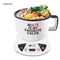 Mini Multi Cookers 1L Food Grade Stainless Steel Electric Hot Pot Cooker Rice Boil Steamed Soup Pots Perfect for Dorm GL ZON166