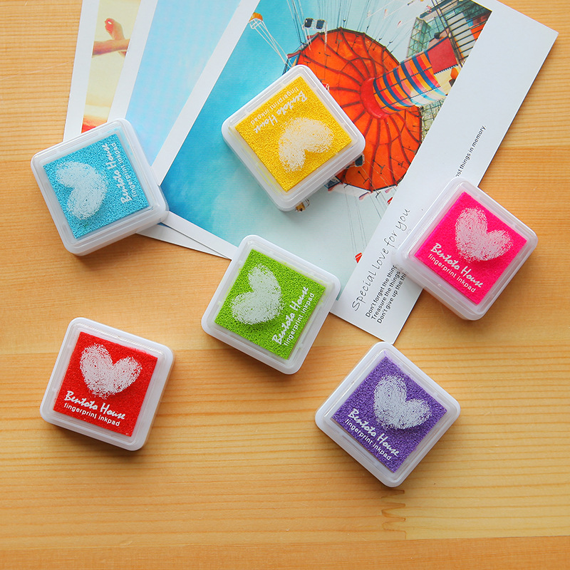 6pcs Set Colorful Fingerprint Stamp Pads DIY Diary Albums Essential Inkpad Stamps Sealing Decoration E0 In From Home Garden On Aliexpress